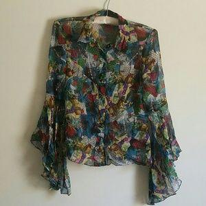 Diane von Furstenberg silk urban blouse shirt
